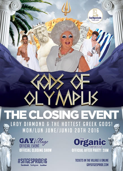 Gods of Olympus Party Sitges