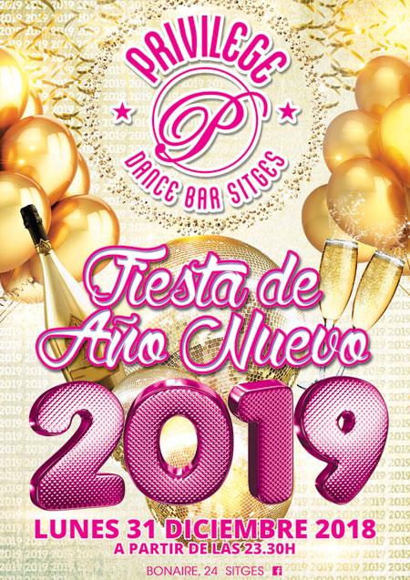 Festa de Ano Novo Privilege Sitges