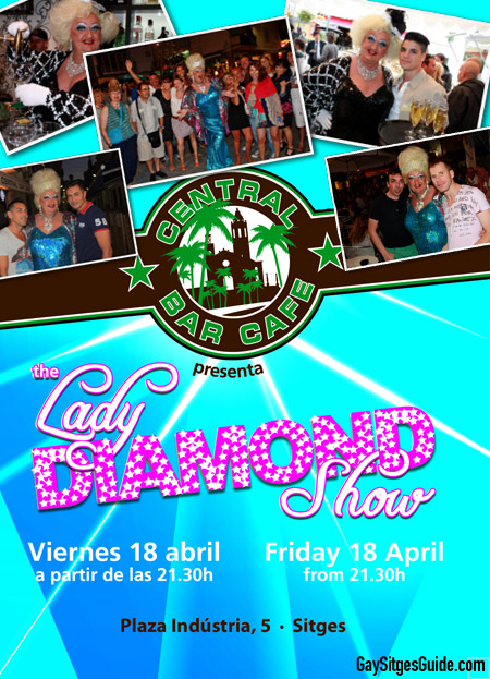 Central Cafe Bar Sitges con Lady Diamond