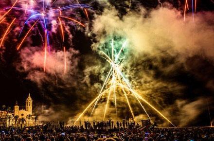 Contagem regressiva do Fiesta Mayor Sitges