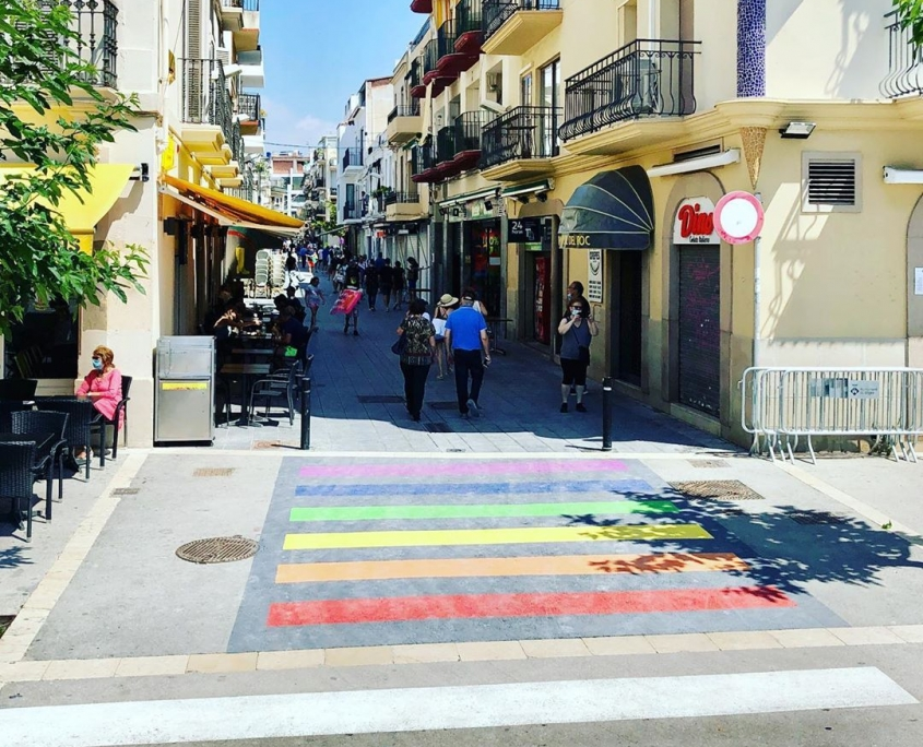 Passeggiata arcobaleno di Sitges