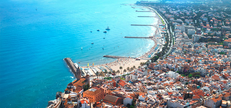 Sitges from the sky