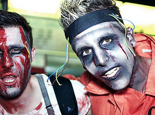 Zombiewandeling in Sitges